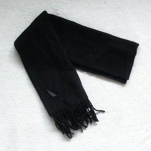 NAUTICA 100% Lambs wool black scarf